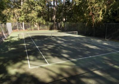 On site tennis