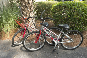 Two bicycles included with your rental