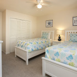 Two twin beds in guest room