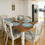 Dining table seats six